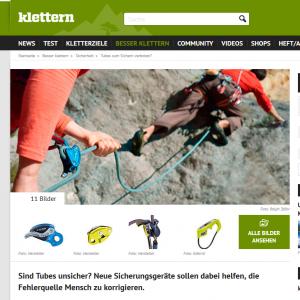 Sicherungsgeräte Screenshot www.klettern.de