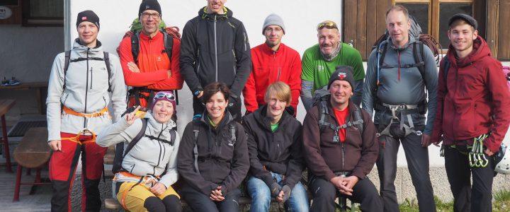 Bericht: Alpinklettern – Klettern mit Jugendlichen in den Lechtaler Alpen – Steinseehütte, Juli 2016
